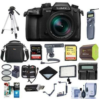 Panasonic Lumix DC-GH5 Mirrorless Camera w/Leica DG Vario 12-60mm And Pro Acc