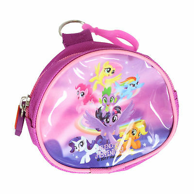 Children's Character PVC Front Coin Wallet Purse with Clip - My Little Pony