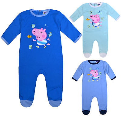 Girls Boys Peppa Pig Romper Baby New 1Onesie1 Kids Sleepsuit Ages 1 3 6 9 Months