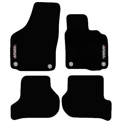 VW Scirocco 2008 to 2018 Tailored Carpet Car Floor Mats with logo 4 Round Clips