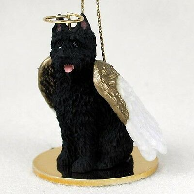 BOUVIER DES FLANDRES Dog ANGEL Ornament Resin FIGURINE Christmas CROPPED puppy