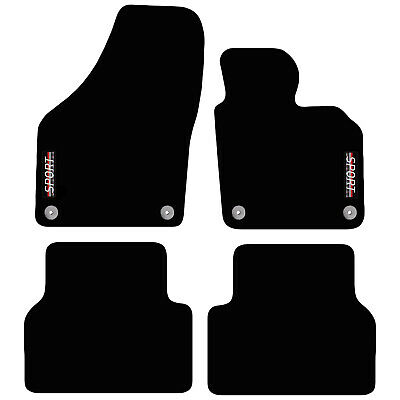VW Tiguan 2007 to 2017 Tailored Carpet Car Floor Mats with logo 4 Round Clips