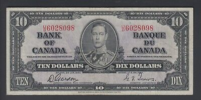 1937 $10 Dollars - Gordon Towers - Prefix U/D - Bank of Canada - F342