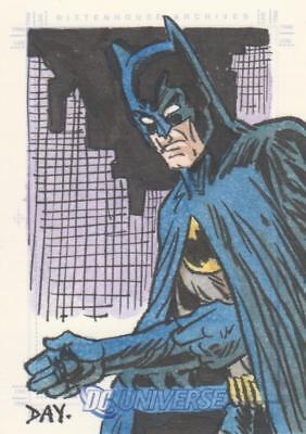DC Universe / Legacy Color Sketch Card by Day - Batman
