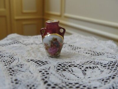 Dollhouse Miniature Hand-Painted Ceramic Vase