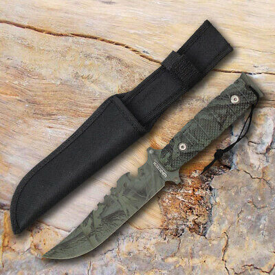 """11"""" Hunting Steel Outdoor Camping Survival COMBAT Knife Fixed Blade"""