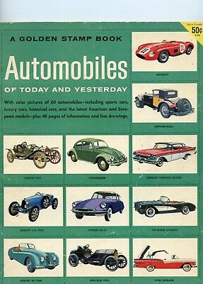 Golden Stamp Book Magazine Automobiles of Today and Yesterday 1957 See My Store