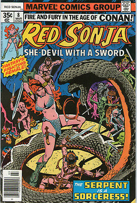 Red Sonja # 8 - Frank Thorne Art ( Cents Copy - Scarce 1978 )