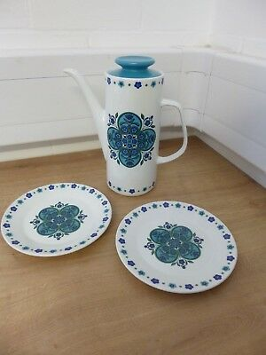 J&G Meakin Studio Impact Coffee Pot & 2 Side Plates
