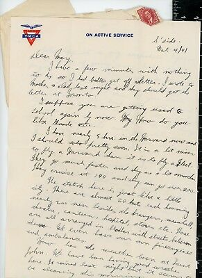 WWII Royal Canadian Air Force - Harvard better then Fleet  , WW2 letter home