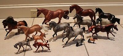 14 Assorted Breyer Horses Large Medium Small Foals