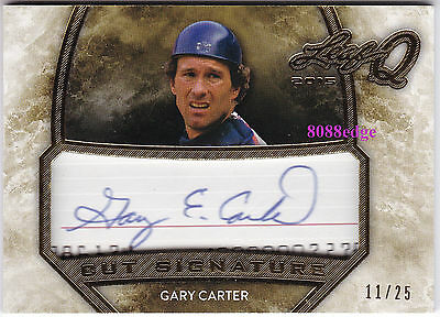 2015 Leaf Q Cut Signature Auto: Gary Carter #11/25 Autograph Expos/mets All-Star