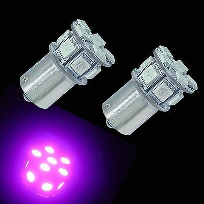 2x 13 5050-SMD LED Signal Turn DRL Bulbs Purple Scooter Ba15s 1093 1156