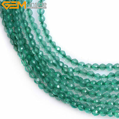 2mm Round Natural Tiny Small Faceted Gemstone Beads For Jewelry Making Seed 15''