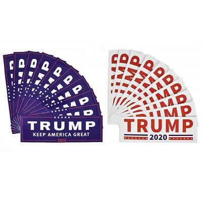 10pcs For President 2020 Make America Great Again Bumper Donald Trump Stickers