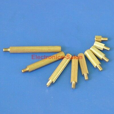 Brass M2 Threaded Standoff, Retail or Wholesale, Male-Female or Female-Female