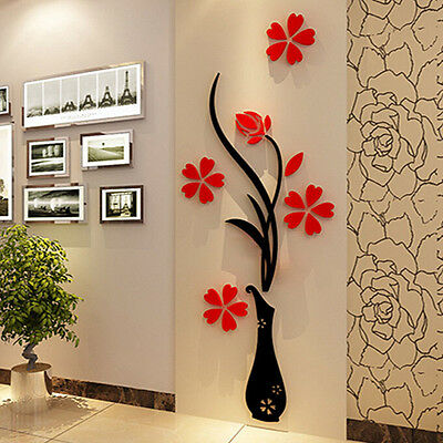 Flower Decal Vinile Decor Art Home Room Rimovibile Adesivi murali Murali WF