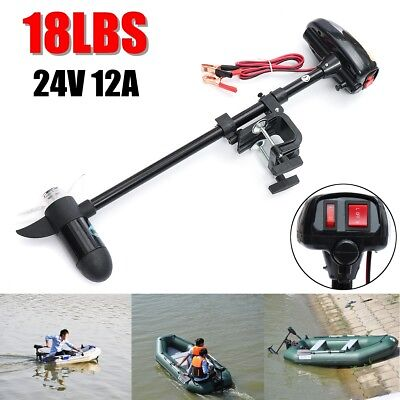 18LBS 24V Electric Outboard Trolling Thrust Motor For Inflatable Fishing Boat