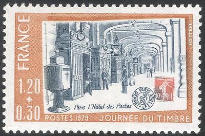 France 1979 Stamp Day/Post Office Buildings/Architecture/Post/Mail 1v (n43852)