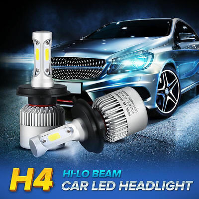H4 9003 Auto Car LED Headlight Hi/Lo Beam Bulbs Lamp Light Super Bri6000K 8000LM