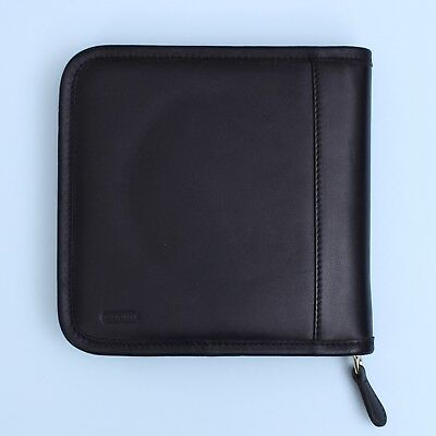 Genuine Authentic Coach Black Leather CD/DVD Wallet Holder