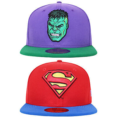 New Era 59FIFTY Superman Hulk DC Marvel Fitted Super Hero Baseball Caps