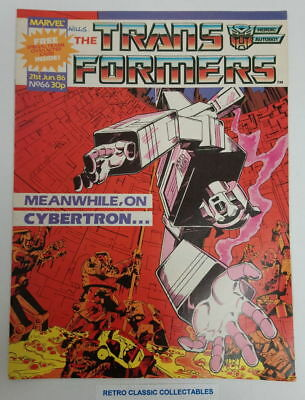 Marvel UK - The Transformers - Comic - No. 66 - 21st June. 1986