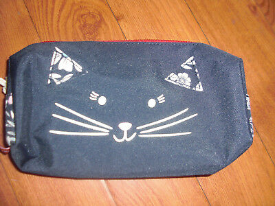 Bnwt Girls Joules Navy Ditsy Cat Zipped Pencil Case.last 1 !!!!