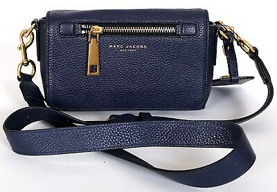 d0d6816d0dcf Marc Jacobs Navy Gotham Ladies Pebble Leather Small Crossbody Handbag