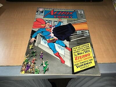 Action Comics Superman 1966 DC Comic Book #343 0fg1