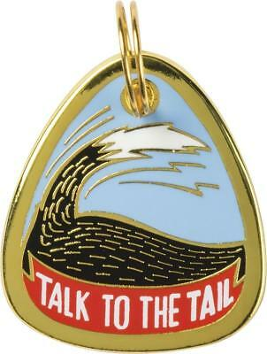 """Metal Pet Charm  """" TALK TO THE TAIL """" Dogs Pets Collar Tag  ID Charms Gift Gifts"""
