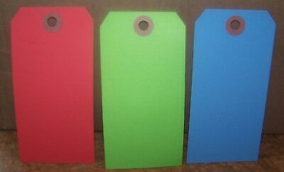 """1000 4 3/4"""" x 2 3/8"""" Size 5 Blank Inventory Shipping Hang Tag Tags 13 Pt Colors"""