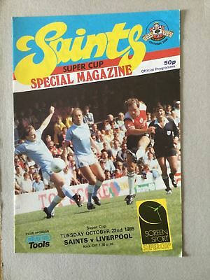 SOUTHAMPTON v LIVERPOOL  SUPER CUP October 22nd  1985 /1986