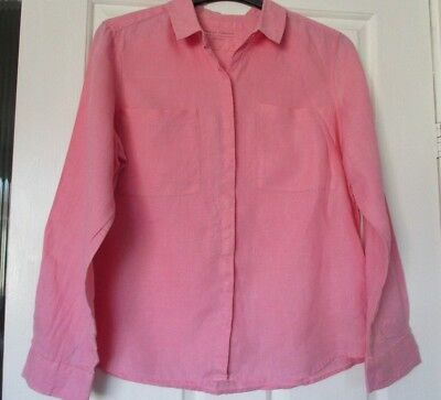 NWT LINED M/&S PINK CREPON BLOUSE SIZE 24