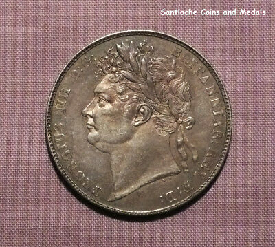 1820 KING GEORGE IV SILVER HALFCROWN - Top Grade Coin, Nicely Toned.