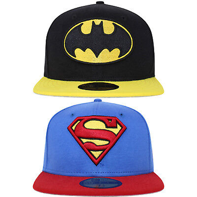 New Era 59FIFTY Superman Batman DC Superhero 2 Tone Fitted Baseball Cap