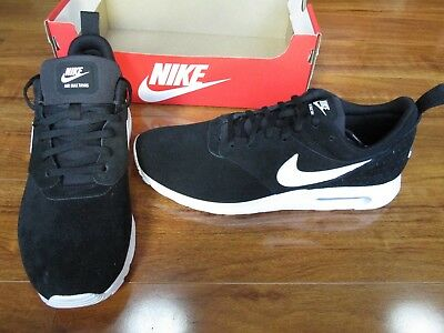 NEW NIKE AIR Max Tavas Leather Suede Shoes Mens 10.5 Black