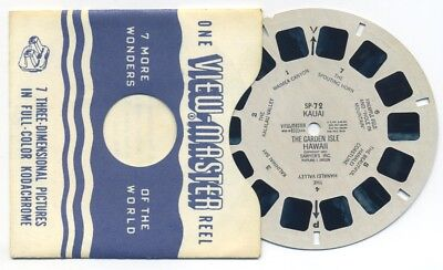 SP-72 KAUAI The Garden Isle Hawaii 1951 Sawyer's ViewMaster SP Reel