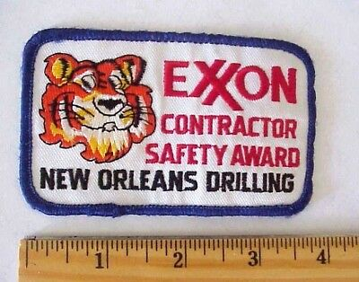 Exxon Gas Oil Co. Esso Tiger Contractor New Orleans Drilling Award Patch Used