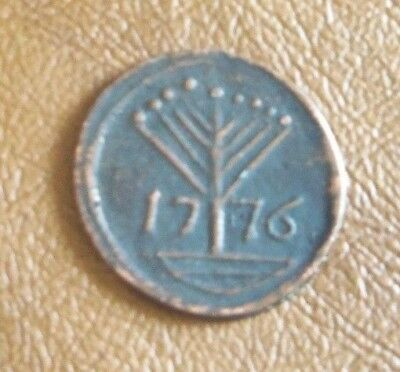 1776 American Liberty Tree Coin Token Old Estate Find Money COPY