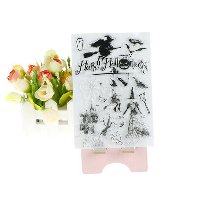 Happy Halloween witch Transparent Silicone Clear Stamps for Scrapbooking Album T