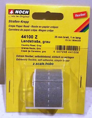 NOCH 44100 Z Scale Gray Country Street Roll of Road 3.2-ft NEW *USA Dealer $0SHP