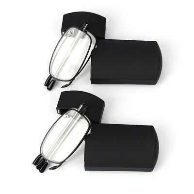 2Pair Universal Folding Reading Glasses Magnify Presbyopic Case Unisex 1.5 2 2.5