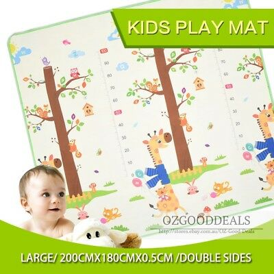 New Large 2x1.8m Baby Kids Toddler Play Mat Floor Rug Animal & Alphabet 5mm EW