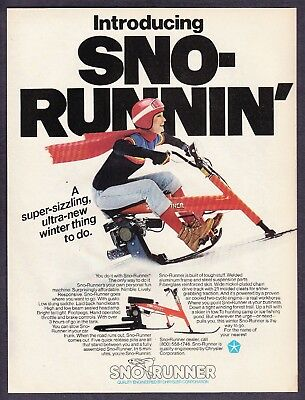 1980 Snow Runner Snowmobile photo New Winter Thing to Do vintage print ad