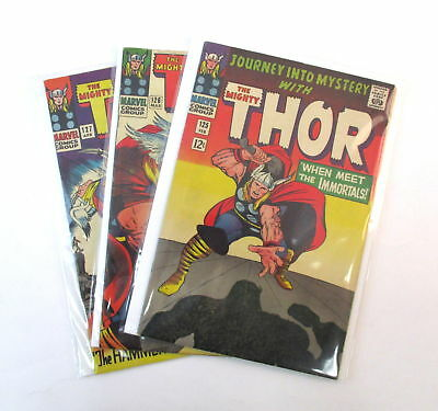 JOURNEY INTO MYSTERY #125 + THOR #126 127 Silver Age Marvel Comic Lot Jack Kirby