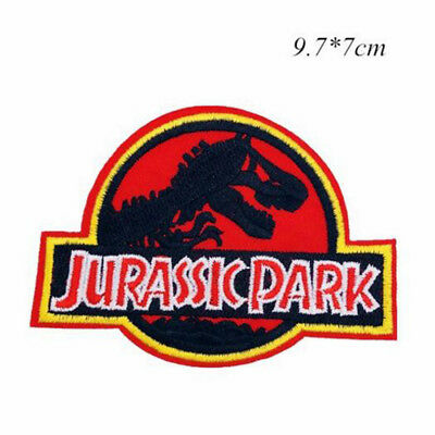 Jurassic Park Movie Logo Embroidered Iron or Sew-On Patch Dinosaur T-rex New 1pc