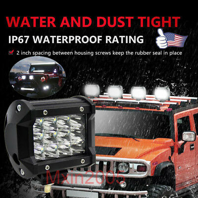 US 4'' 36W Cree LED Work Lights Bar Pod Spot Offroad Lamp For ATV JEEP SUV Truck