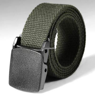 MENS Military Outdoor Sport Military Tactical Nylon Waistband Canvas Web Belt M