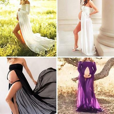 Maternity Maxi Gown Pregnant Women Dress Photography Photo Props Clothes B